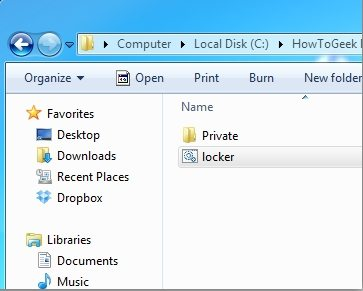 how to set password for a folder in windows