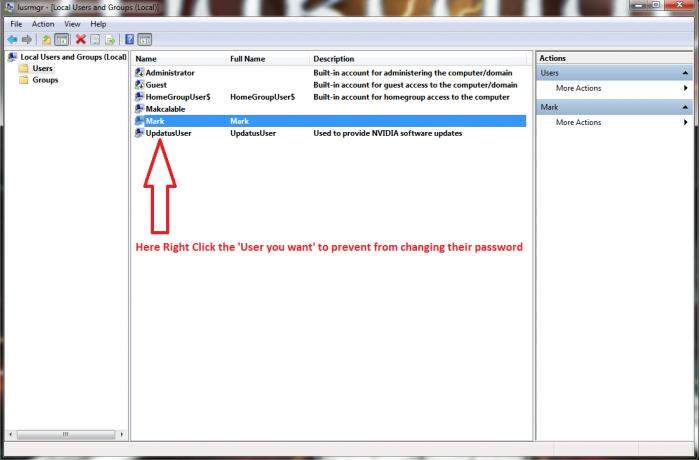 prevent user from changing logon password in windows 7