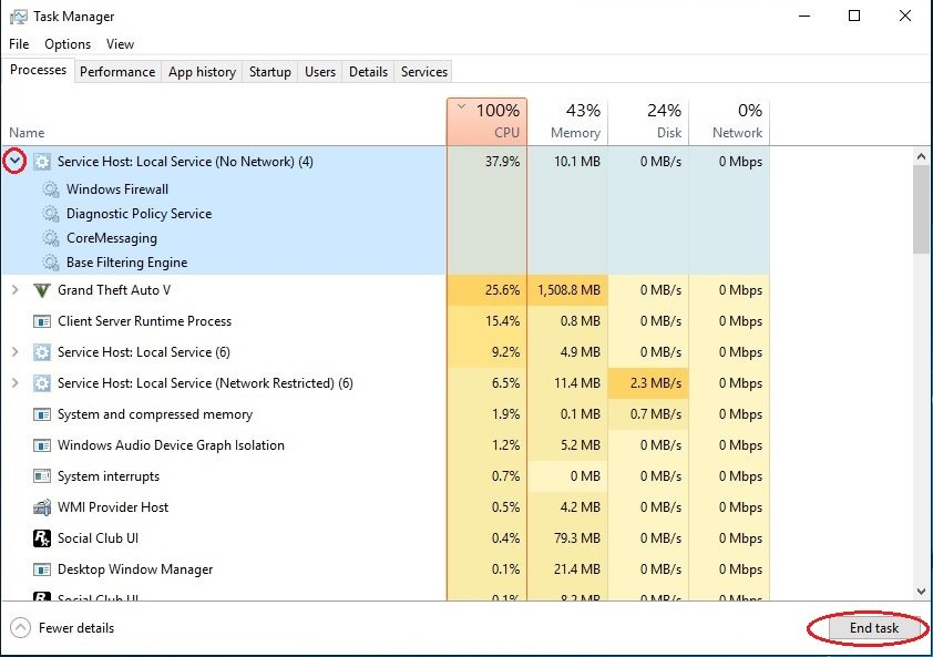 svchost.exe high memory usage windows 8.1