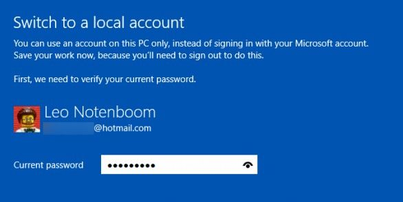 type microsoft account