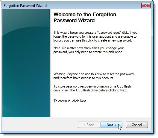 create windows 10 password reset disk