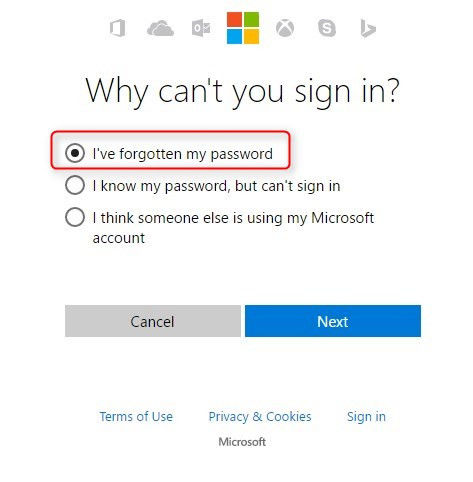 windows 10 pro forgot admin password