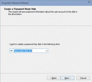 create windows password reset disk