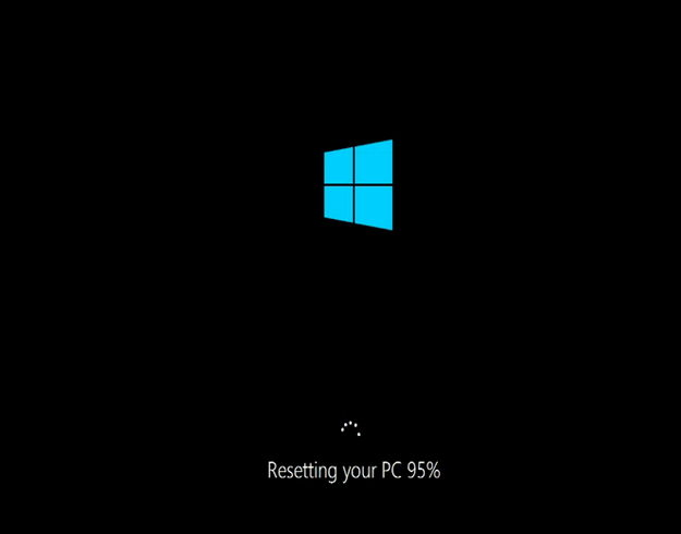 windows 10 is being reset