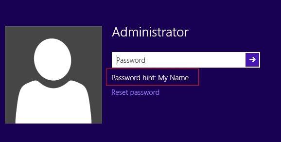 win 10 password reset