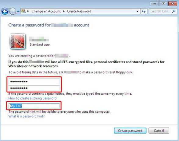 password protect windows 7 zip file