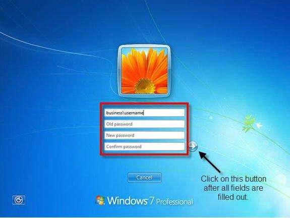 change your windows 7 password with cmd