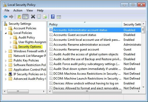 how to turn on the administrator account in windows 7