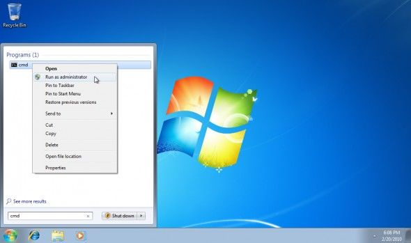 disable hidden administrator account in windows 7