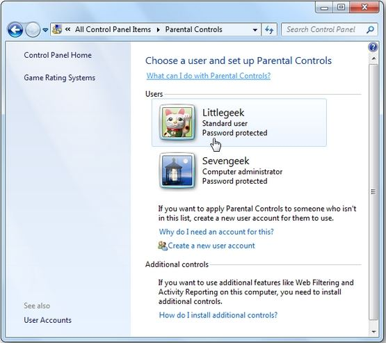 turn off parental controls on windows 7