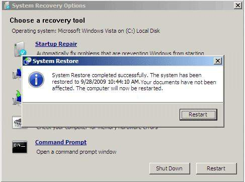 how to reset windows 7 password with system restore