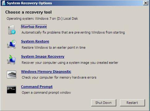 change windows 7 password with system restore