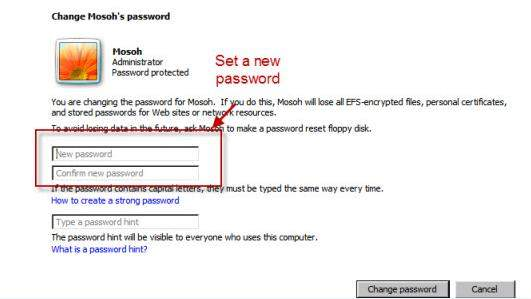 how to reset user password windows 7 safe mode