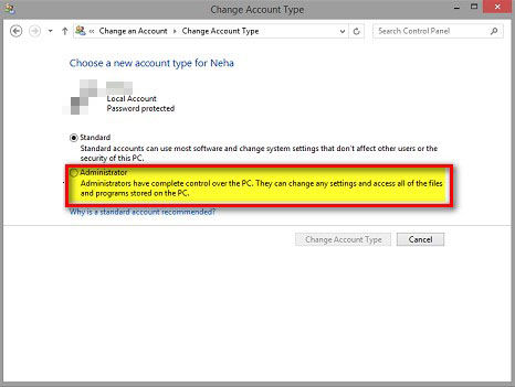 get back lost admin rights on windows 8.1