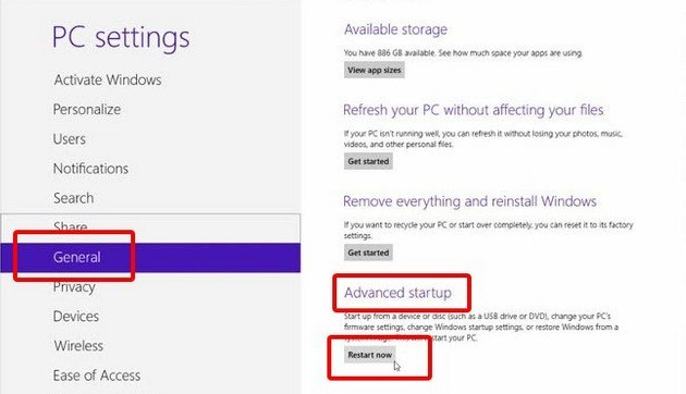 disable secure boot windows 8 acer