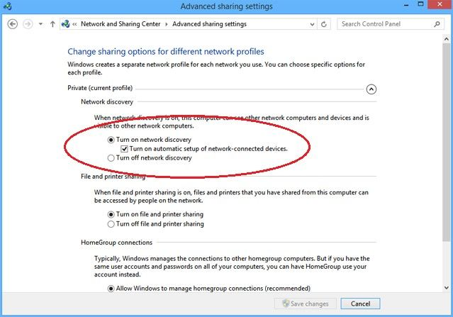 windows 8.1 network discovery not working