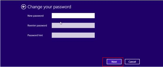 how to change windows 8 password
