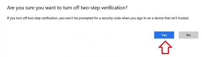 how to disable two-step verification for your microsoft account