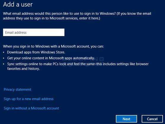 add a new user account in windows 8