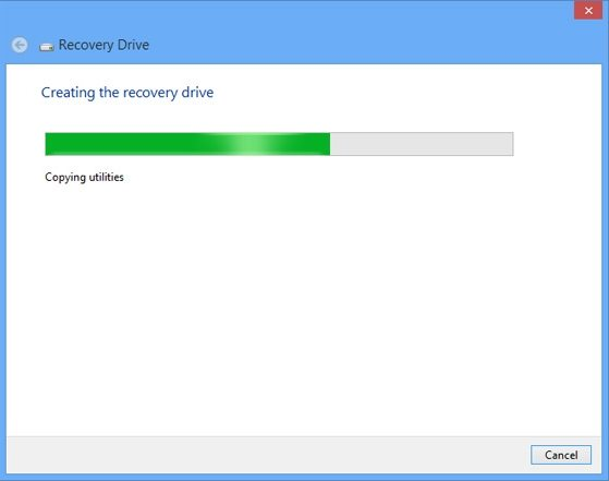 create a recovery drive in windows 8