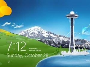 disable windows 8 lock screen on pc