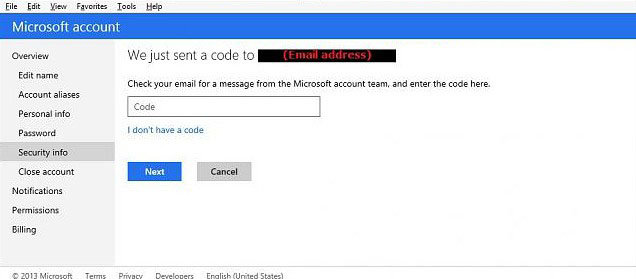 how to set up two-step verification for microsoft account