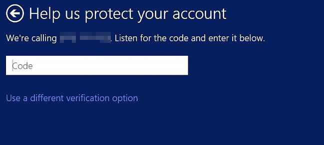 verify your Microsoft account security info in windows 8.1