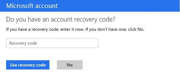 recover Microsoft account in windows 8.1
