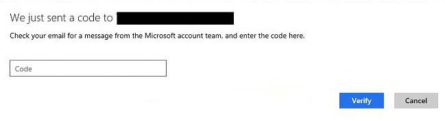 verify your Microsoft account identity in windows 8.1