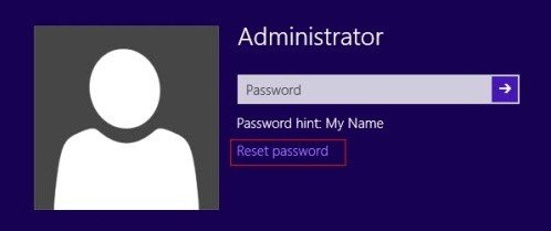 recover windows 8.1 admin password