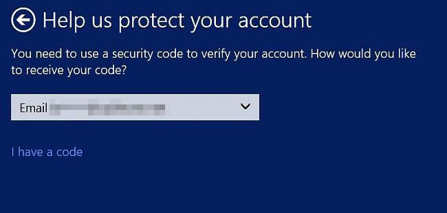 how to recover microsoft account in windows 8.1