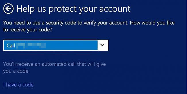 verify Microsoft account security info