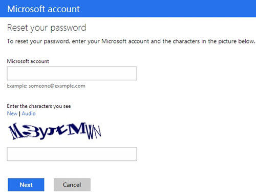change recover your live account password