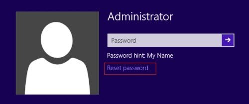recover windows 8 admin password