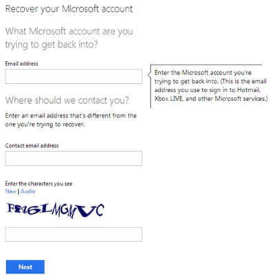 Reset the password for your Microsoft account by typing it into New password. Then confirm it by typing it again into Reenter password . For info on signing in to Xbox Live using your Microsoft account, see Password and security: Password and sign-in .