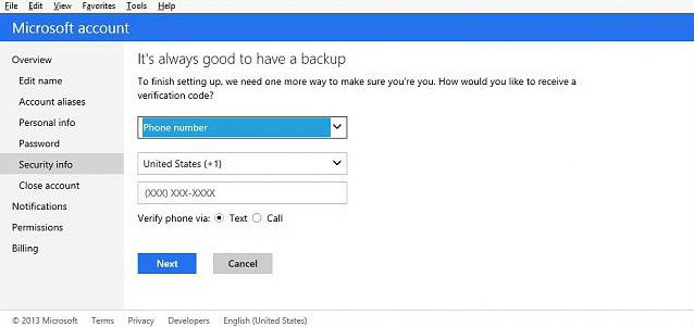 how to turn on two-step verification for microsoft account