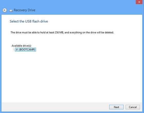 create a bootable usb flash recovery drive in windows 8