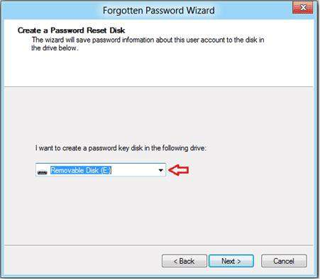 create a windows 8 password reset usb