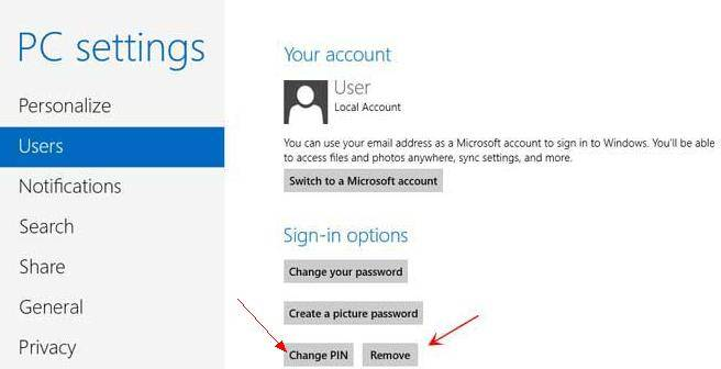create windows 8 pin logon
