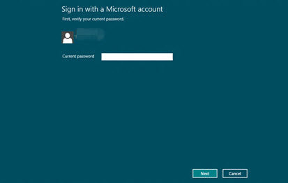switch to a local account in windows 8
