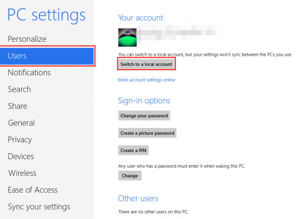 switch user accounts in windows 8