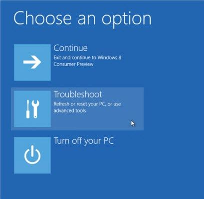 boot into safe mode in windows 8