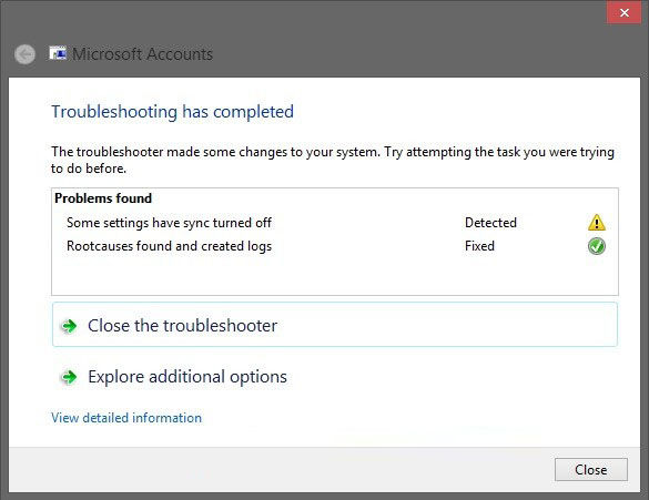fix windows 8 microsoft account issues with microsoft account troubleshooter