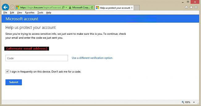 turn on two-step verification for microsoft account
