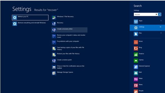 create a bootable windows 8 recovery tool