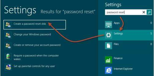 windows 8 password reset usb boot