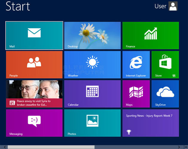 return to windows 8 start screen