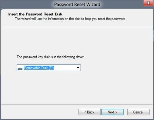 recover the windows password