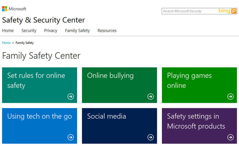 Windows Live Family Safety Center