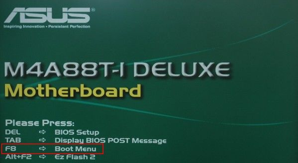 set asus boot from USB drive